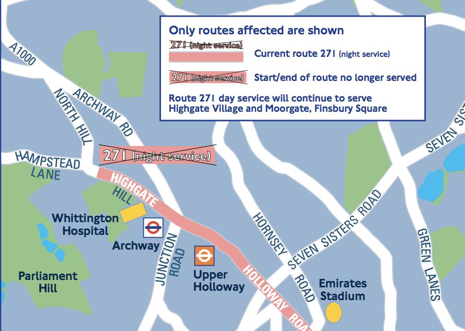 TfL consultation – 271 night buses