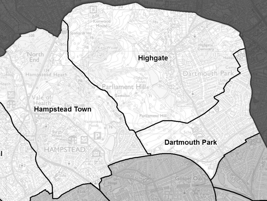 Camden's new Highgate ward