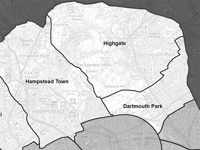 Camden's new Highgate ward