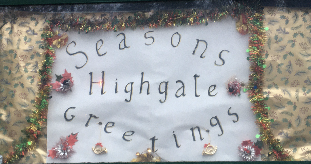 Christmas Celebrations in Highgate: December 2020 newsletter